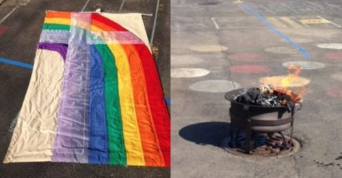 rainbow-flag-burning