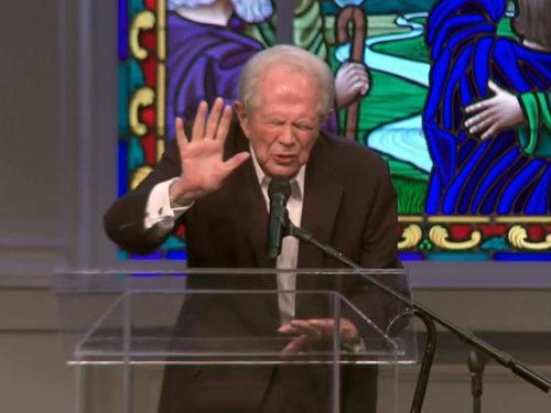 Pat Robertson on CBN, praying away the rain