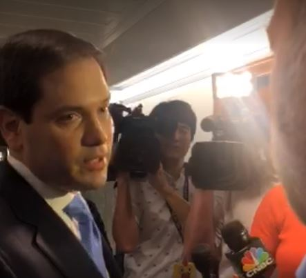 "Marco Rubio calls Alex Jones a ""clown"" during altercation at the Capitol."