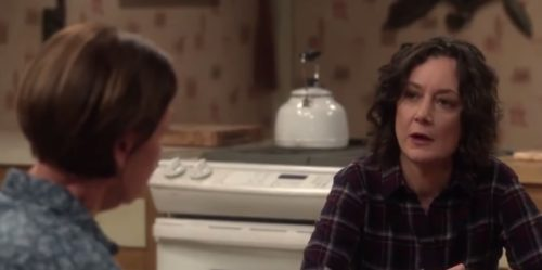 "Sara Gilbert and Laurie Metcalf star in the ""Roseanne"" spinoff, ""The Conners."""