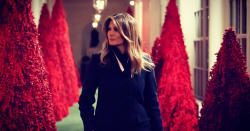 Melania Trump's White House holiday decorations highlight 'patriotism'