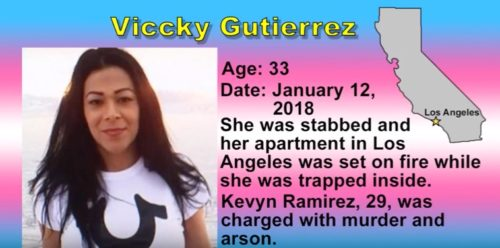 Viccky Gutierrez was stabbed and left to die in her burning apartment. Her killer was arrested and charged with murder and arson.
