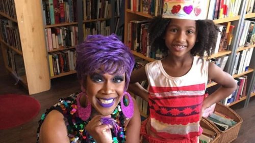 drag queen, Drag Queen Story Hour, little girl, crown, black, library