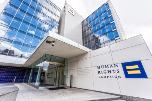 The Human Rights Campaign headquarters in Washington, DC.