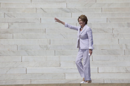 Congresswoman Nancy Pelosi at the 50th Anniversary of the march on Washington and Martin Luther King's I Have A Dream Speech, August 24, 2013, Lincoln Memorial, Washington, D.C.