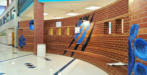 interior of N. western high school