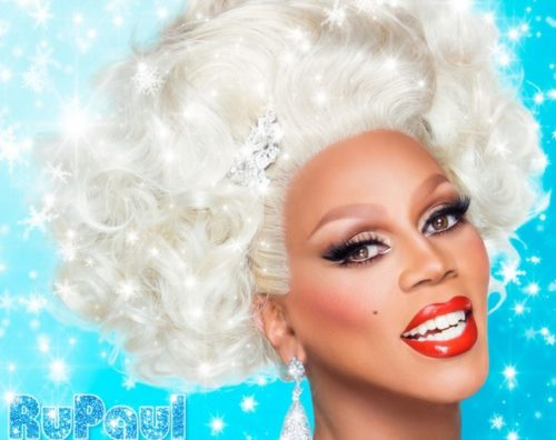 "Album art from RuPaul's Christmas album ""Slay Belles."""