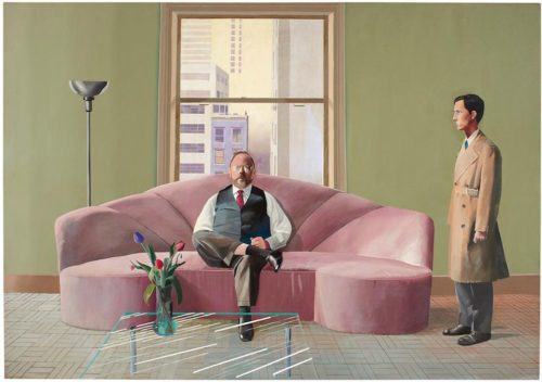 """The David Hockney painting, """"Henry Geldzahler and Christopher Scott"""" could fetch $38 million or more at auction."""