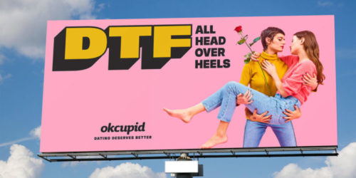 OKCupid ad with lesbians