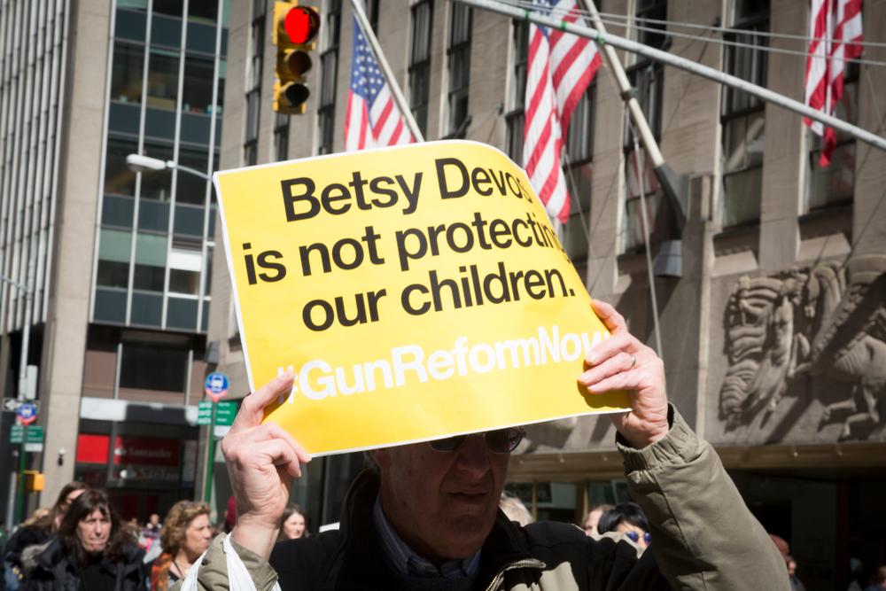 Betsy DeVos, firearms, guns