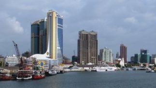 The waterfront of Dar es Salaam, Tanzania.