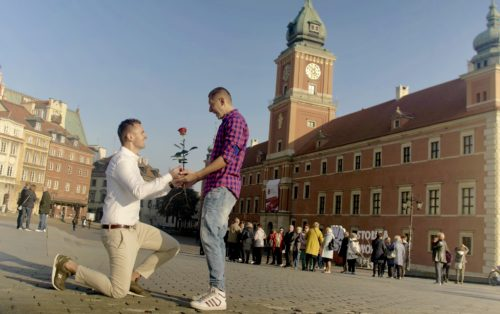 "Jakub and Dawid get ""engaged"" in Poland."