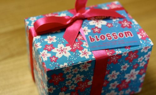 A gift in wrapping paper