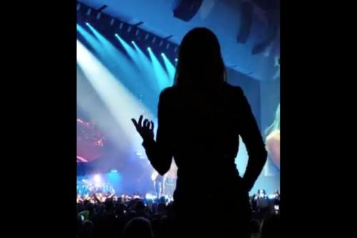 Celine Dion dances at Lady Gaga's show in Las Vegas.