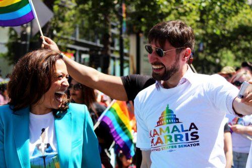Kamala Harris at the 2018 Pride Parade in San Francisco Kamala Harris Facebook page