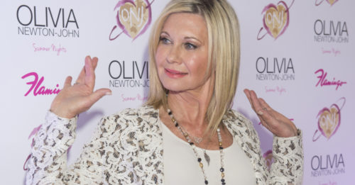 Entertainer Olivia Newton-John attends the grand opening of her residency show 'Summer Nights' at Flamingo Las Vegas on April 11, 2014