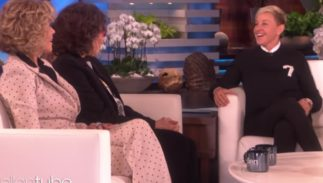 Ellen talking with Jane Fonda and Lily Tomlin