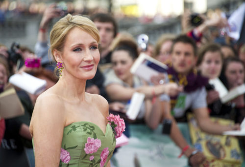 "JK Rowling arriving for the World Premiere of ""Harry Potter & the Deathly Hallows Pt 2 at Trafalgar Square in London on 07/07/2011"