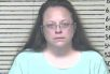 Former Kentucky county clerk Kim Davis's mugshot