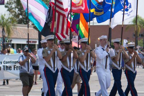 LGBTQ servicemembers kick off San Diego Pride 2017.