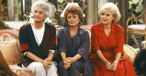 "Bea Arthur, Rue McClanahan and Betty White in ""Golden Girls"""