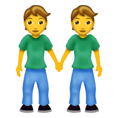 gender-neutral people holding hands