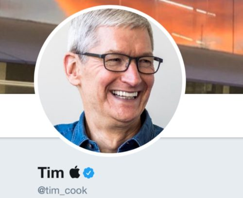 Apple chief Tim Cook has fun on Twitter after Trump's verbal gaffe