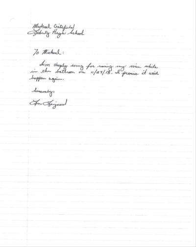 Livengood's letter