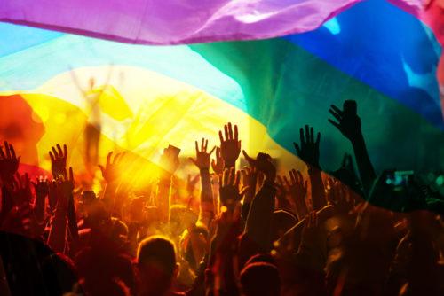 rainbow flag, pride event, pride parade