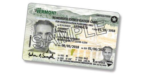 Vermont Driver's License Sample