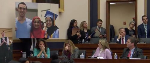 Members of the House Judiciary Committee break down in tears during Dr. Mohammad Abu-Salha's testimony about the murder of his family