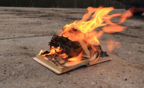 A book burning