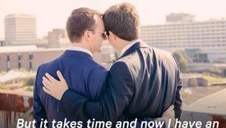 Chasten and Pete Buttigieg with an arm around each other