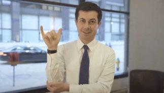 Pete Buttigieg, sign language