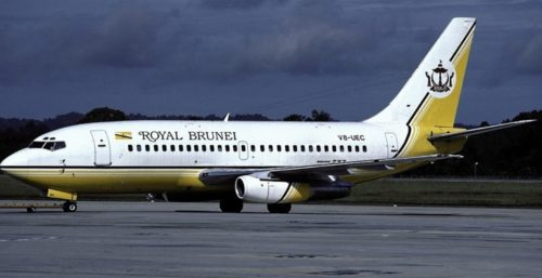 A Royal Brunei Airlines plane