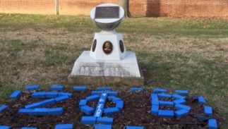"the Zeta Phi Beta Monument located in the lower quadrangle (""The Valley"") at Howard University."
