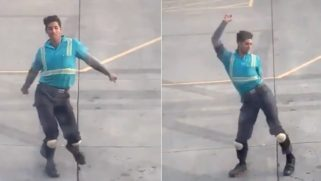 Watch this fierce baggage handler throw a one-man dance party in front of passengers