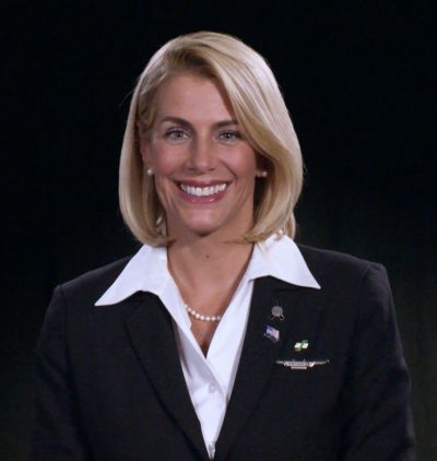 Association of Flight Attendants-CWA International President Sara Nelson