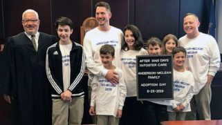 Hero dads adopt six siblings from foster care to keep them all together