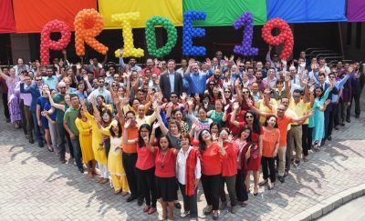 Employees of the US Mission in Nepal celebrate Pride.