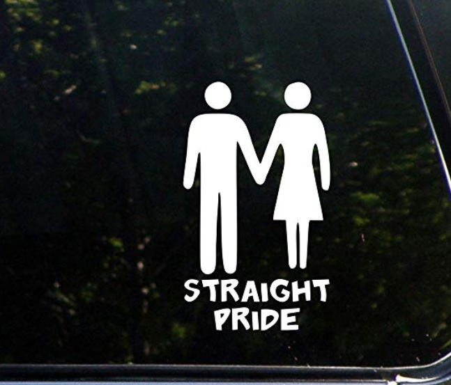 Straight Pride car decal