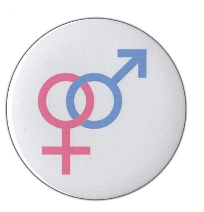 Straight pride pin