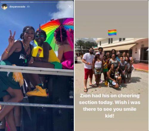 dwyane wade, zion wade, miami beach gay pride
