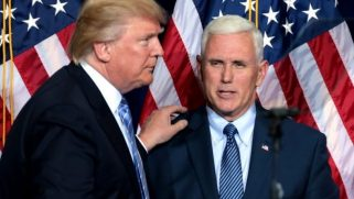 Mike Pence finds himself tied to the mast of the sinking S.S. Trump