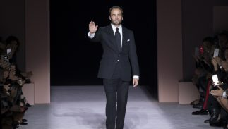 Designer Tom Ford walks the runway at the Tom Ford Spring Summer 2018 fashion show during New York Fashion Week