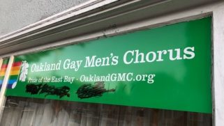 A gay chorus's office was vandalized with a hateful message