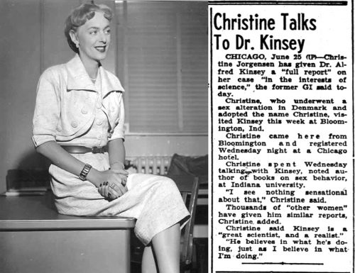 Column about Christine meeting Kinsey