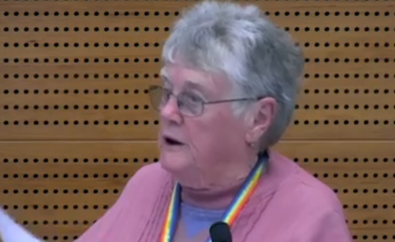 An 84-year-old elder volunteer was fired because she's a lesbian