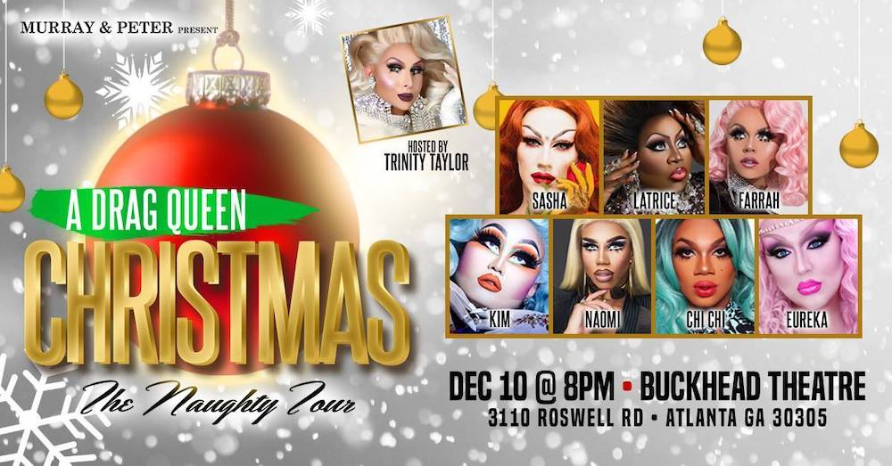An image promoting another performance of A Drag Queen Christmas