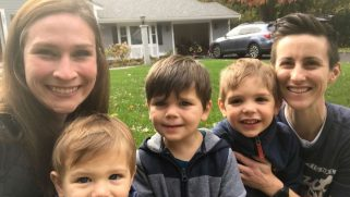 Lesbian moms adopt 3 brothers to keep them from being split apart